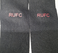 Black men's rotherham ( rufc logo  design socks size 9-12
