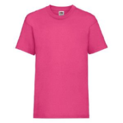 Fruit of the loom lady fit t-shirt personalised dark pink