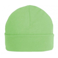 Green personalised baby beanie hat 0-3 months
