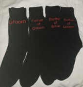 Mens black wedding socks various designs size 6-8