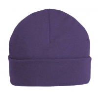 Purple personalised baby beanie hat 6-12 months