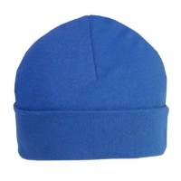 Royal blue personalised baby beanie hat 3-6 months