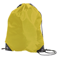 Yellow  personalised drawstring school/pe bag